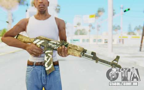 CS:GO - AK-47 Wasteland Rebel para GTA San Andreas terceira tela