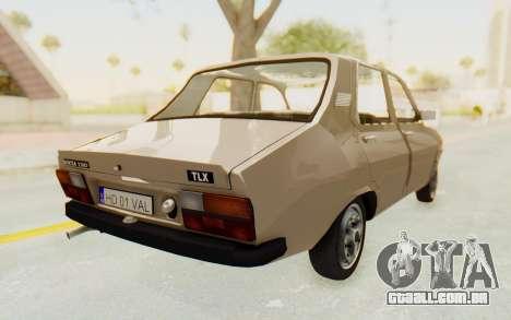 Dacia 1310 TLX para GTA San Andreas traseira esquerda vista