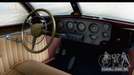 Cord 812 Charged Beverly Low Chrome para GTA San Andreas vista interior