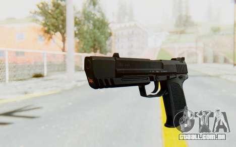 HK USP 45 Black para GTA San Andreas segunda tela