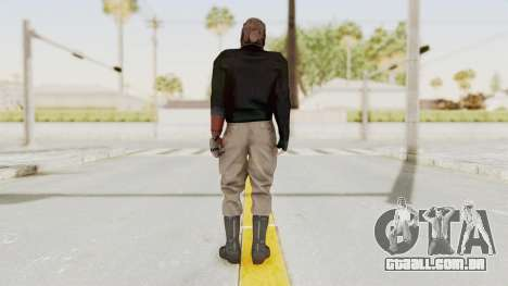 MGSV Phantom Pain Venom Snake Leather Jacket para GTA San Andreas terceira tela