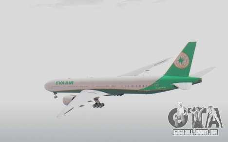 Boeing 777-300ER Eva Air v3 para GTA San Andreas vista direita