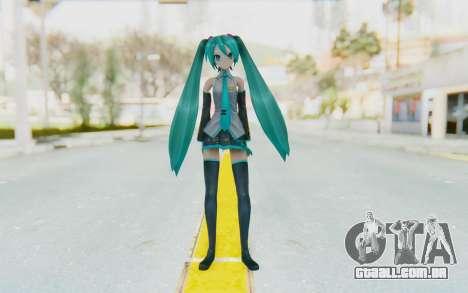 Project Diva F2 - Hatsune Miku (Music Girl) para GTA San Andreas segunda tela