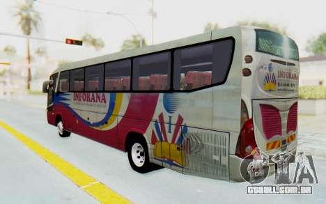 Marcopolo Inforana Bus para GTA San Andreas esquerda vista