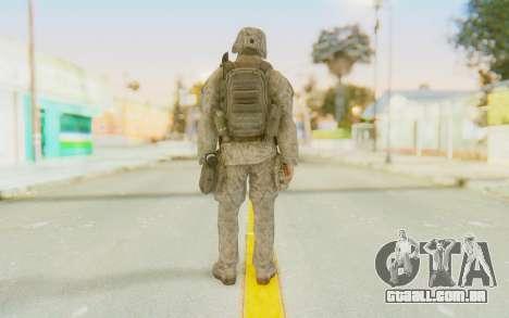 CoD MW2 Ghost Model v3 para GTA San Andreas terceira tela