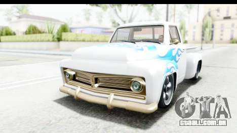 GTA 5 Vapid Slamvan without Hydro para GTA San Andreas vista inferior