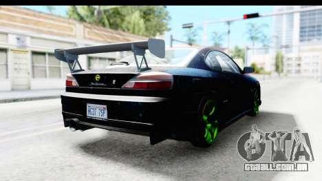 Nissan Silvia S15 Galaxy Drift v2.1 para GTA San Andreas traseira esquerda vista