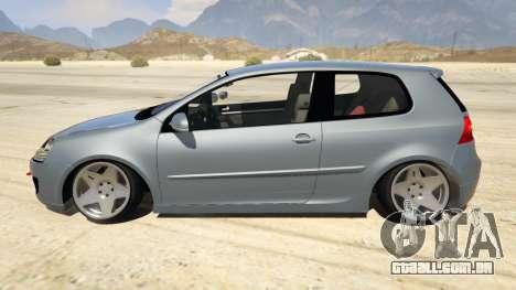 Volskwagen Golf MkV Stance para GTA 5