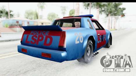 Hotring Police para GTA San Andreas vista direita