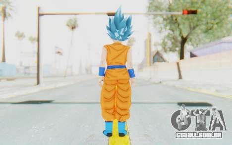 Dragon Ball Xenoverse Female Saiyan SSGSS para GTA San Andreas terceira tela
