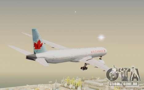 Boeing 777-300ER Air Canada para GTA San Andreas vista direita