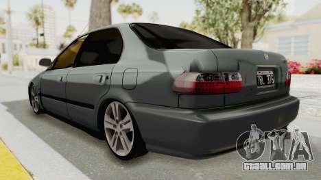 Honda Civic SI Sedan 1992 para GTA San Andreas esquerda vista