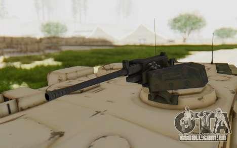 MGSV Phantom Pain M84A MAGLOADER para GTA San Andreas vista traseira