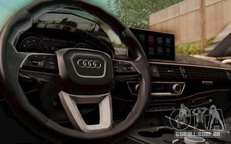 Audi A4 2017 HQLM para GTA San Andreas vista interior