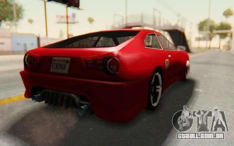 Elegy GT v1 para GTA San Andreas vista direita