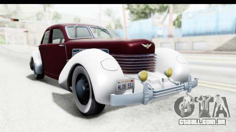 Cord 812 Charged Beverly Low Chrome para GTA San Andreas vista direita