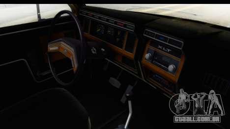 Ford Bronco 1980 IVF para GTA San Andreas vista interior