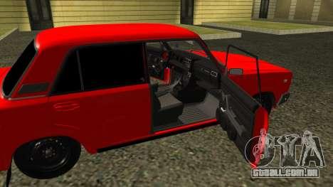 2107 para GTA San Andreas vista interior