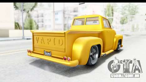 GTA 5 Vapid Slamvan without Hydro para GTA San Andreas vista direita