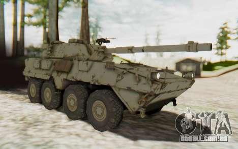 MGSV Phantom Pain STOUT IFV APC Tank v1 para GTA San Andreas vista direita