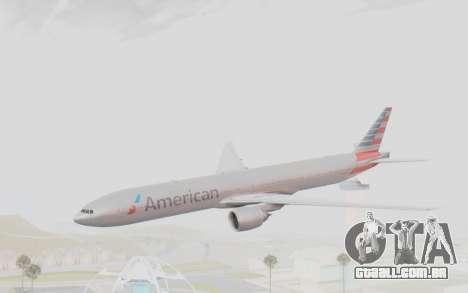 Boeing 777-300ER American Airlines N727AN para GTA San Andreas traseira esquerda vista