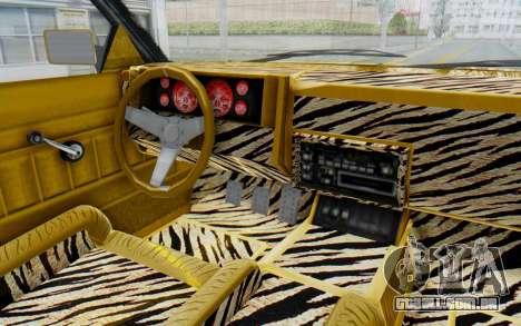 GTA 5 Willard Faction Custom Donk v1 IVF para GTA San Andreas vista interior