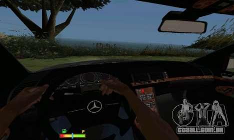 Mercedes-Benz MB W140 1999 para GTA San Andreas vista traseira