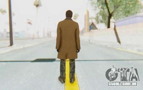 GTA 5 DLC Finance and Felony Male Skin para GTA San Andreas terceira tela