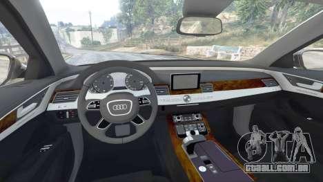 GTA 5 Audi A8 FSI 2010 frente vista lateral direita