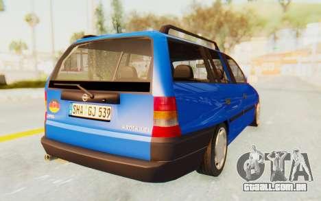 Opel Astra F Kombi 1997 para GTA San Andreas traseira esquerda vista