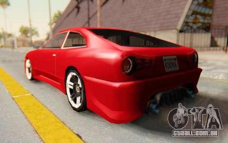 Elegy GT v1 para GTA San Andreas esquerda vista