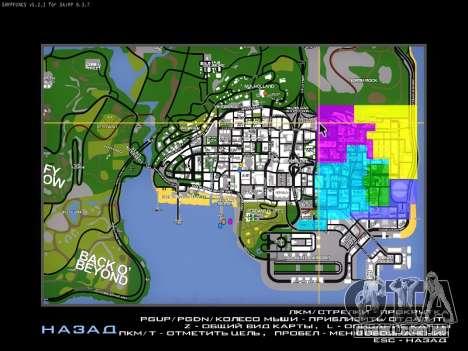 Mapa para SAMP para GTA San Andreas
