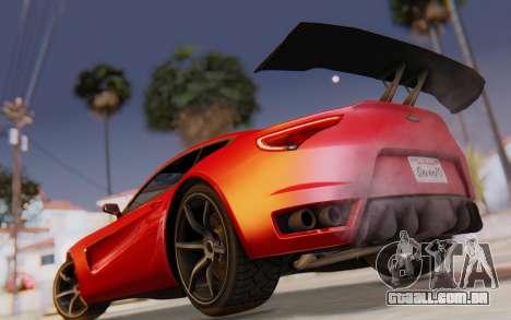 GTA 5 Dewbauchee Seven 70 SA Lights para GTA San Andreas vista superior
