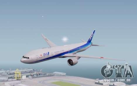Boeing 777-300ER ZK-OKO - Smaug Livery para GTA San Andreas traseira esquerda vista