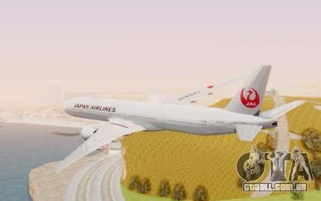 Boeing 777-300ER Japan Airlines v2 para GTA San Andreas vista direita