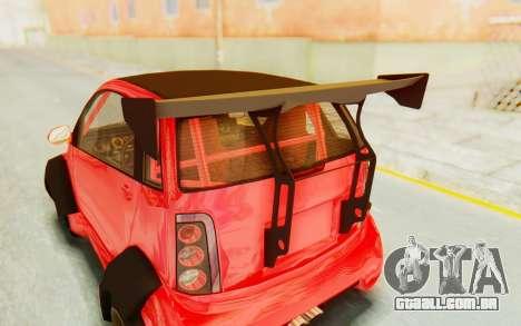 GTA 5 Benefactor Panto Custom para GTA San Andreas vista traseira