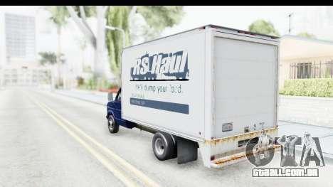 Ford E-350 Cube Truck IVF para GTA San Andreas esquerda vista
