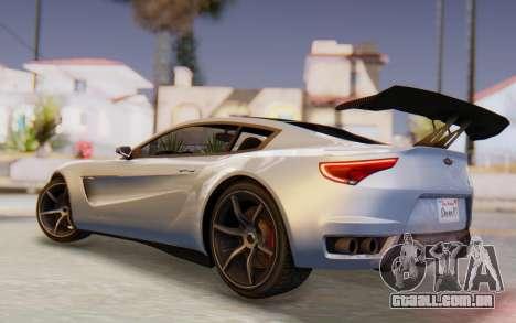 GTA 5 Dewbauchee Seven 70 SA Lights para GTA San Andreas traseira esquerda vista