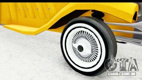 Unique V16 Fordor Taxi para GTA San Andreas vista traseira