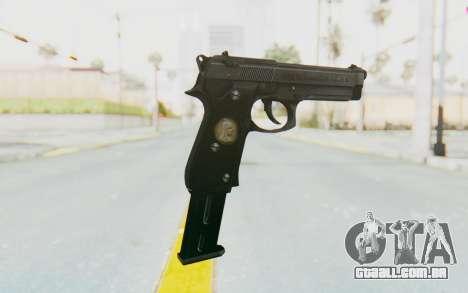 Tariq Iraqi Pistol Back v1 Black Long Ammo para GTA San Andreas segunda tela