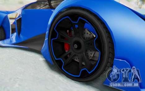 GTA 5 Grotti Prototipo v1 para GTA San Andreas vista traseira