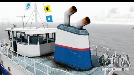GTA 5 Buckingham Tug Boat v1 IVF para GTA San Andreas vista traseira