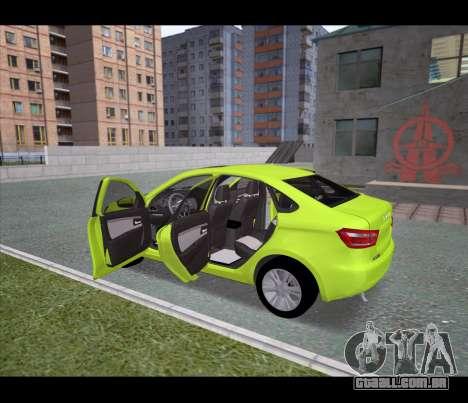 Lada Vesta para GTA San Andreas traseira esquerda vista