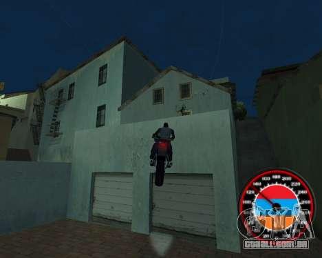 O velocímetro no estilo do armênio bandeira para GTA San Andreas sétima tela