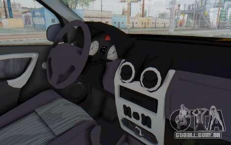Dacia Logan Facelift Ambulanta para GTA San Andreas vista interior