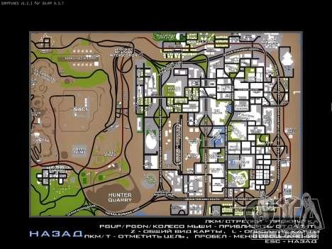 Mapa para SAMP para GTA San Andreas terceira tela