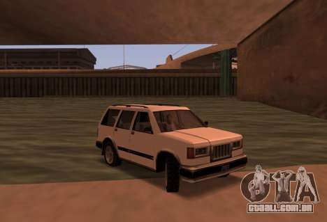Landstalker SRT8 para GTA San Andreas traseira esquerda vista