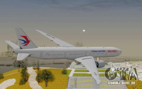 Boeing 777-300ER China Eastern Airlines para GTA San Andreas vista direita