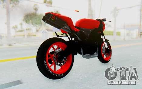 Kawasaki Ninja 250R Streetrace Naked para GTA San Andreas esquerda vista