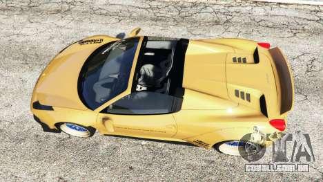 GTA 5 Ferrari 458 Spider [Liberty Walk] voltar vista